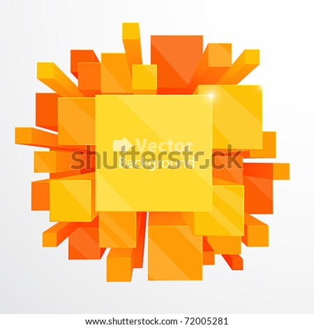 3d orange abstract background - vector illustration