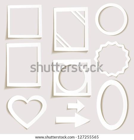 3D paper frames