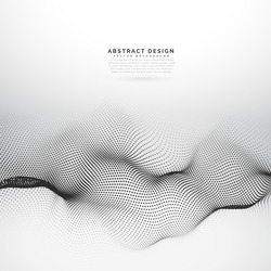 3d particle wireframe mesh vector background