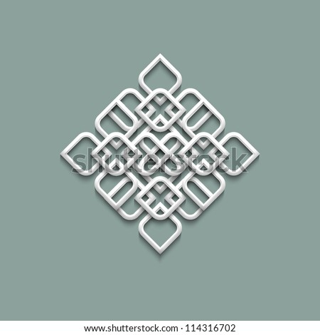 3d pattern in arabic style. Vector illustration