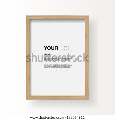 3D picture frame design vector for A4 image or text #125064911