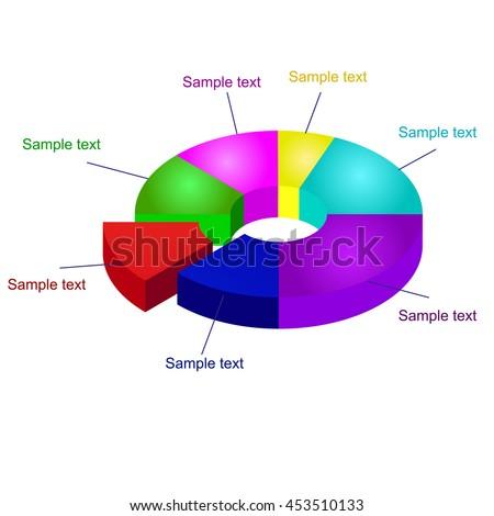 3d Pie Chart Vector Graphics Pie Graph Element Ez Canvas