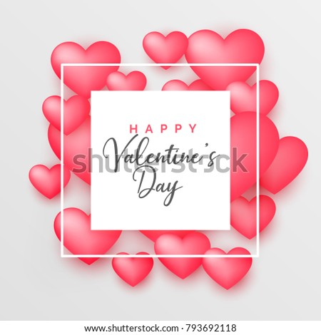 3d pink hearts beautiful background for valentine's day #793692118