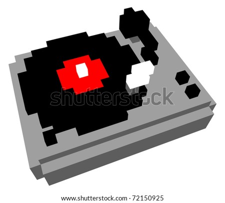 3D pixel cartoon style turntable
