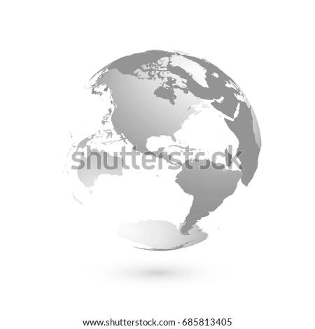 3d planet earth globe