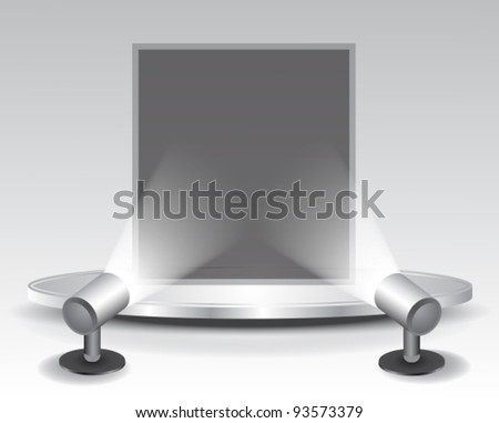 3d podium with light,vector illustration - stock vector