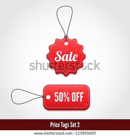 3D Price tags set 2.