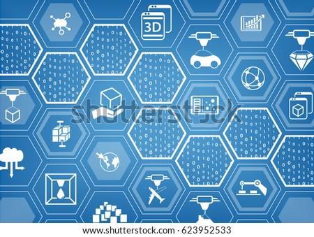 3d print concept blue