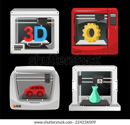 printer free vectors download 3 free vector graphic