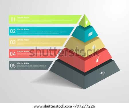 3d pyramid infographic template