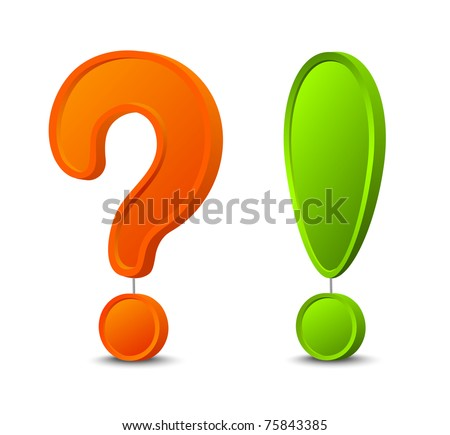 3d question mark and exclamation mark