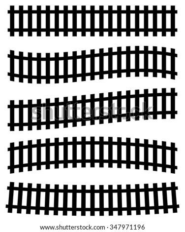 3d railway  railroad track