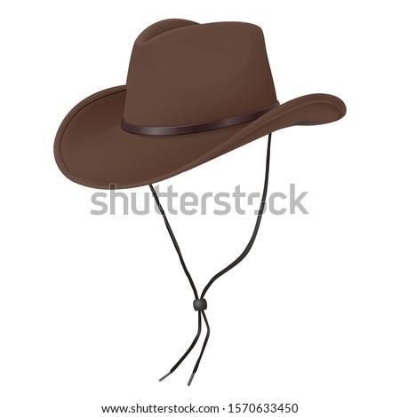 3d realistic vector cowboy hat