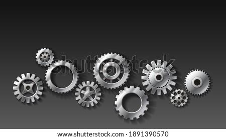 3d realistic vector metal gears