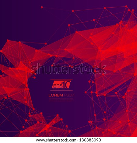Stock Photo 3D Red and Purple Abstract Mesh Background with Circles, Lines and Shapes | EPS10 Design Layout