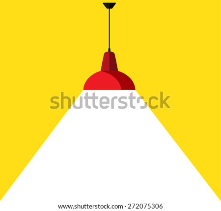 3d render of red lamp