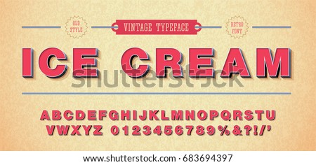 3d retro vector font, alphabet 90's, 80's, with punctuation marks and numbers.