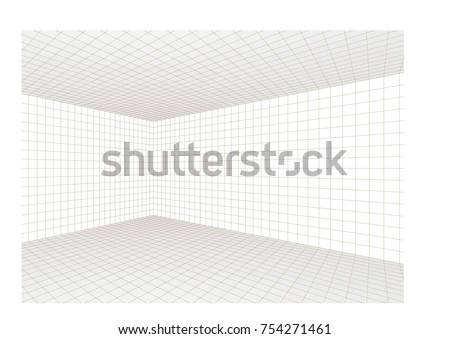 3d room corner interior