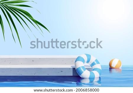 3d scene design for summer