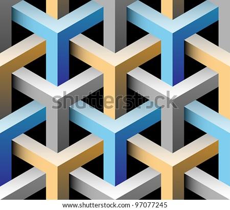 Stock Photo 3d seamless pattern
