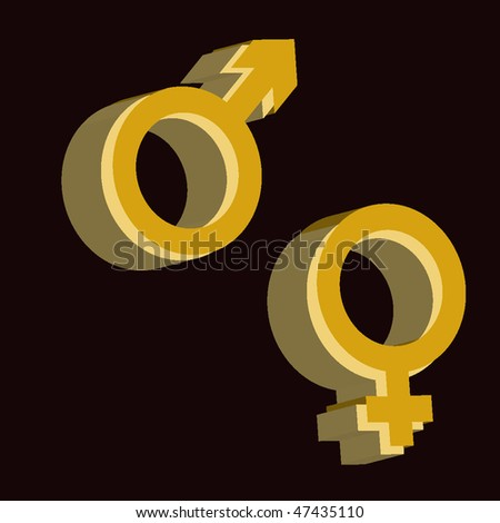 3 d signs of she and he (mens or womens beginning)