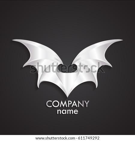 3d silver modern shape wings