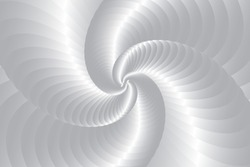 3d Silver shell swirl circle elegant form. Gold round abstract vortex hypnotic spiral background. Abstract Curved Spiral Background. Geometric swirl background. Golden spiral background.Vector EPS 10