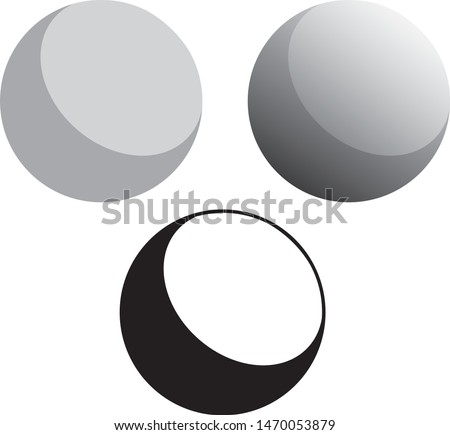 3d Solid Ball Spheres Vector Illustration