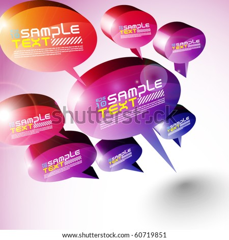 3D Speech Bubbles Design