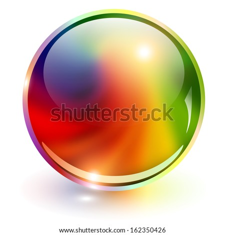 3d sphere rainbow colors