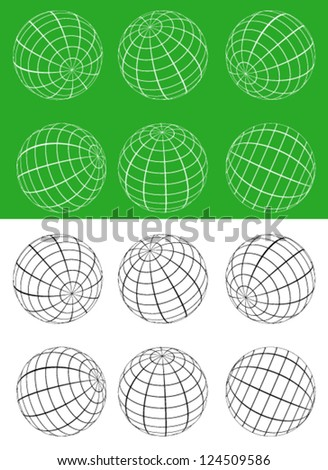 3d Sphere Vector Icons
