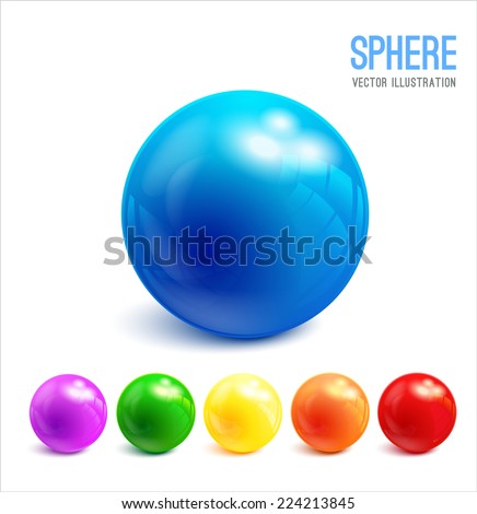 3d sphere vector illustration
