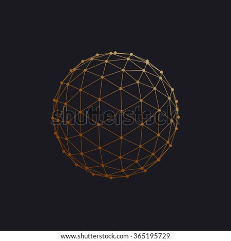 3d sphere with global line
