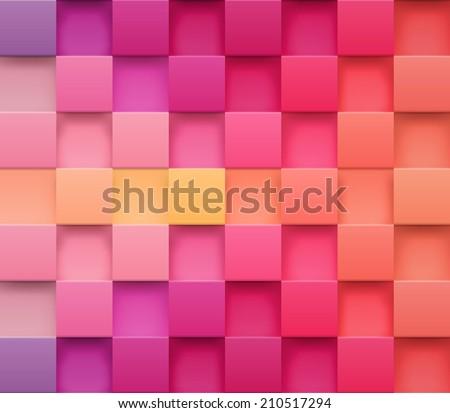 3d square mosaic vintage