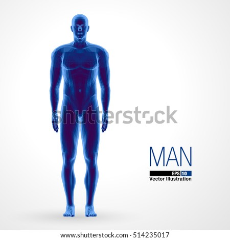 3d standing man  full length