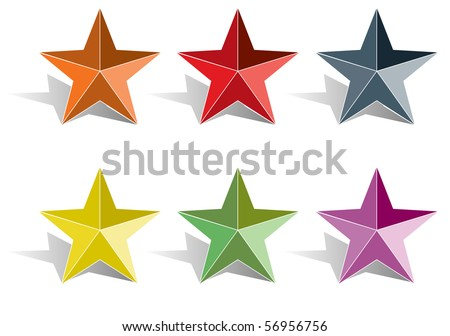 3d star vector illustration