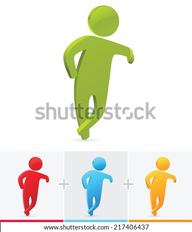 Royalty Free Stock Photos And Images 3d Stick Figure Leaning