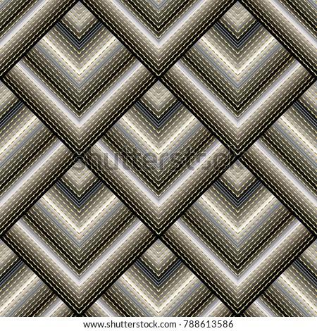 3d striped modern seamless