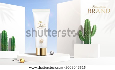 3d summer sunscreen tube ad