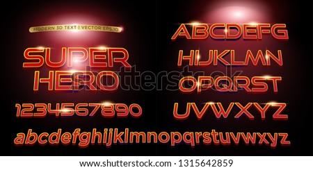 3d superhero stylized lettering