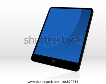 3d tablet vector