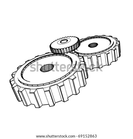 Gear Drawings Drawing-of-gears-69152863