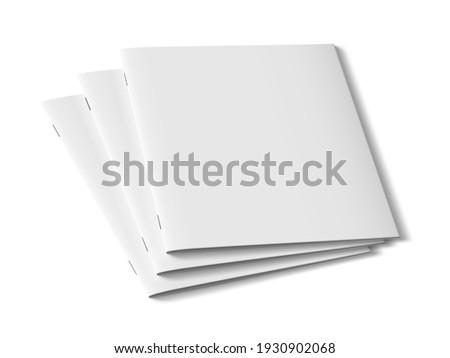 3D Three Clear Brochures Template For Presentations. EPS10 Vector 商業照片 ©