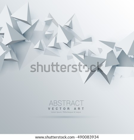 Stock Photo 3d triangles abstract background