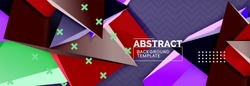 3d triangular vector minimal abstract background design, abstract poster geometric design