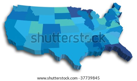 United States Map Vector Download Free Vector Art Stock - Usa state map