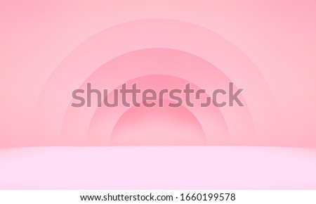 3D valentine render vector of pink pastel background studio. Bright pastel podium or pedestal backdrop. minimal lover concept. Stage romantic for love product on valentine day pink background studio