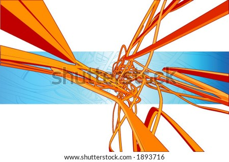 3d vector abstract background. Layered for easier editing.