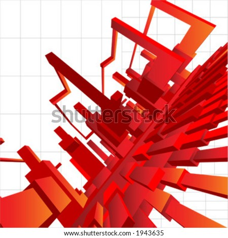 3D Vector abstract background, with technological, futuristic flavor.