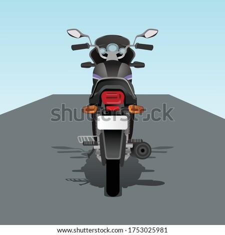 2d vector bike vector back side